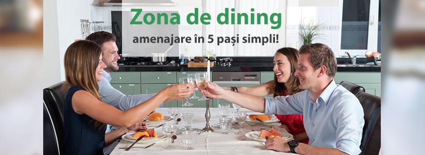 Zona de dining amenajare in 5 pasi simpli